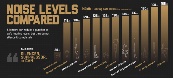 infographic from Silencerco.