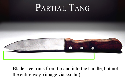 What is a Partial Tang Knife
