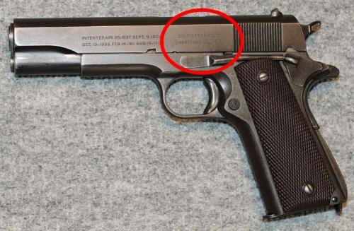 1911 pistol chamber