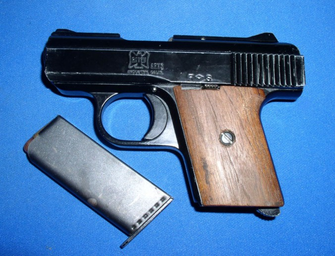 This is a Raven Arms P25 MP25, a good example of a .25 caliber handgun. But is it a bad example of a handgun for writing fiction? (Image via Wikimedia, public domain)