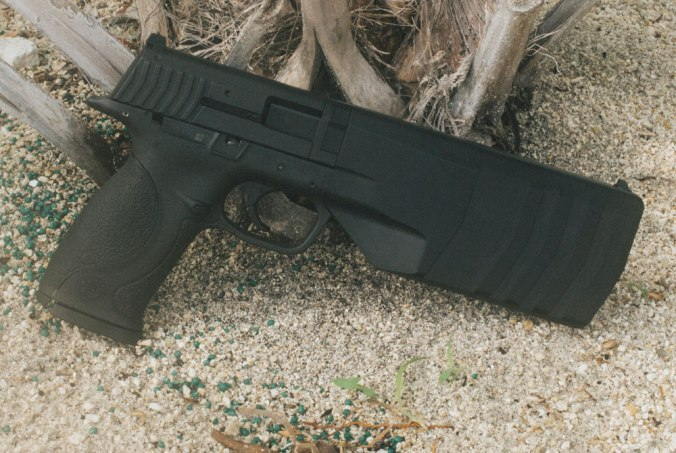 The Silencerco Maxim doesn't look like other pistols because it isn't. (Gun Digest photo)