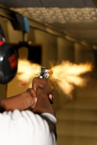 If the impact of a gun falling to the floor is enough to make it go off, why doesn't the force from recoil do the same? It doesn't, because this trope is nothing but malarkey. (Shutterstock photo)
