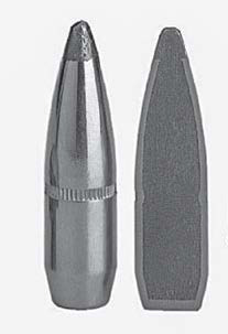 A look at a cup-and-core bullet from the outside (left) and inside (right). (Gun Digest photo)
