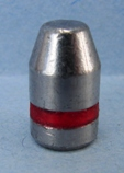 A hard cast lead bullet. This is the bullet separated from the rest of the cartridge. (Badman Bullets photo)