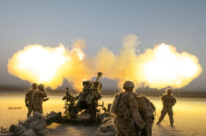 We're talking about firearms here, not artillery. (U.S. Department of Defense photo)