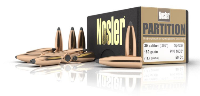 Partitioned bullets. In the foreground are the bullets themselves, separated from their cartridges. (Nosler photo)