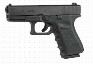 Glock 23 FBI switch 9mm writing firearms