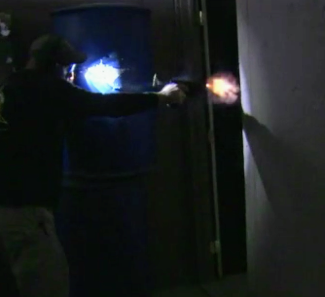 how bright is muzzle flash in the dark
